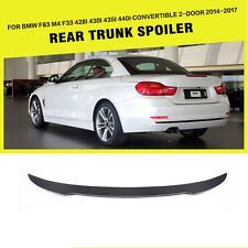 Carbon Fiber Rear Trunk Spoiler Fit for BMW M4 428i 430i 435i Convertible 14-17