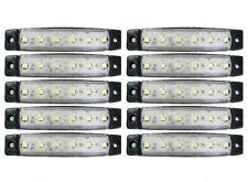 10 X 12v Led White Side Marker Light Fits Mitsubishi Fuso Canter Lorry Truck New
