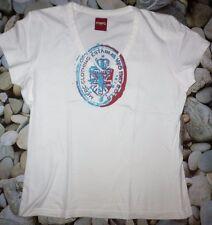 T.shirt MERC London Unisexe Blanc turquoise bordeaux t.M = 38 Col V NEUF