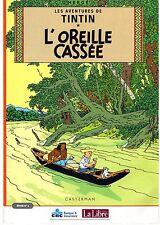 TINTIN L'OREILLE CASSEE HERGE LOT DE 4 LIVRETS JOURNAL LA LIBRE BELGIQUE 2002