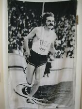 """Vintage Steve Prefontaine USA Large 47.5"""" x 29.5"""" Polyester Tapestry Italy"""