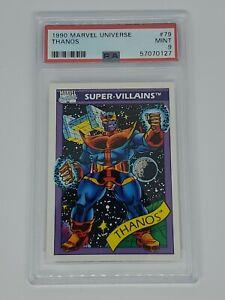 1990 MARVEL UNIVERSE #79 THANOS SUPER VILLAINS AVENGERS PSA 9 MINT!