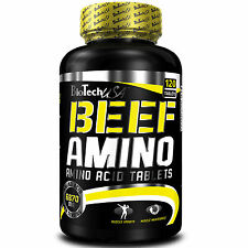 BioTech USA BEEF AMINO 120 Tablets Lactose Free Amino Fomula With Beef Isolate