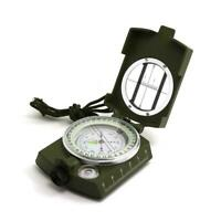 New Professional Military Army Metal Sighting Compass Camping BEST Hiking H2W2