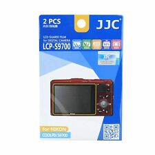 JJC LCP-S9700 LCD Screen Protector Guard Film Cover for Nikon Coolpix S9700