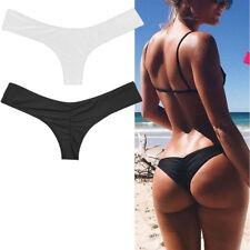 Womens Bikini Brazilian Cheeky Bottom Thong V Swimwears Swimsuits Panties Briefs