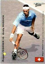 """RARE"" ROGER FEDERER & ANDY RODDICK 2003 NETPRO ELITE MATCHUP ROOKIE CARD!"