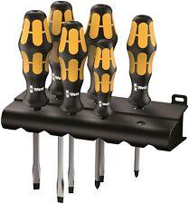 Wera 932/ S/6 Kraftform Chiseldriver Screwdriver Set With Rack 05018283001
