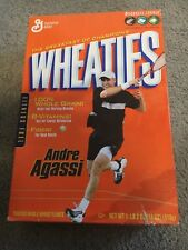 UNOPENED BOX OF ANDRE AGASSI WHEATIES BREAKFAST CEREAL 2004