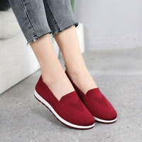 Damen Sneakers Slip On Loafers Flach Freizeit Low Top Schuhe Sport Walking 41 40