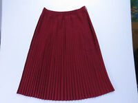 A-154 VINTAGE 80s AUSSIE MADE KATIES PLEATED CHERRY RED SKIRT SIZE 14 NEW