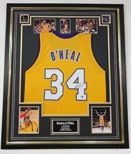 ** Rare SHAQUILLE O' NEAL Signed Shirt JERSEY LA LAKERS Autograph DISPLAY **