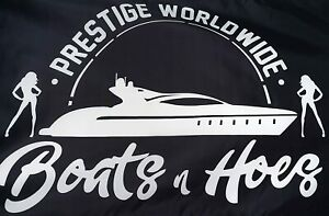 New Prestige Worldwide Boats n Hoes Banner Flag Step Brothers Movie Catalina US