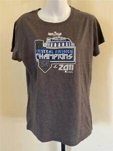 New Milwaukee Brewers 2017 Central Champions Womens Size XL Gray Shirt