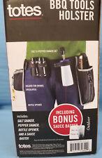 Totes BBQ TOOLS HOLSTER S & P Shakers Bottle Opener BONUS Sauce Baster Gift