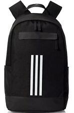 adidas Classic 3 Stripe Backpack Black Work Travel Gym Bag CF3300 BNWT