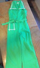 1 Pc Vintage 60's Women Sleeveless Pants Suit Bells Polyester Knit Sz 8 JCPenney