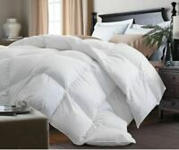 All Season Down & Feather Blend Twin Queen King 100% Cotton White Comforter
