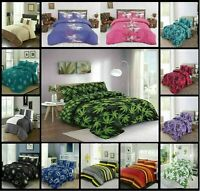 Bed Quilted Throws Bedspread Polycotton Luxury 240cm x 260cm With Pillow Case