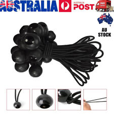 25Pcs 15cm Black Elastic Ball Bungee Loop Cord Wire Fix Ties Strap Canopy Tent