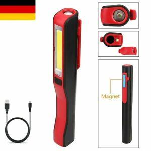 COB LED Taschenlampe Arbeitsleuchte KFZ USB Stablampe Werkstatt Handlampe Licht