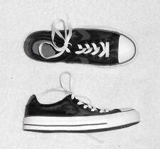 CONVERSE basses cuir noir & gris  P 39 (6 ) TBE