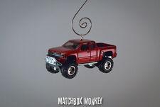 '14 '15 Chevy Silverado SS Pickup Truck 572 V8 1/64 Christmas Ornament Chevrolet