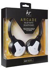 KitSound Arcade Wireless Bluetooth Headphones with Mic Black/ White