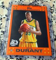 KEVIN DURANT 2007 Topps ORANGE #1 Draft Pick SP Rookie Card RC 2x NBA Finals MVP