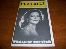 NOV 1981 PLAYBILL - WOMAN OF THE YEAR - LAUREN BACALL HARRY GUARDINO DE LA PENA
