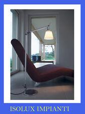 ARTEMIDE LAMPADA TERRA  TOLOMEO BASCULANTE LETTURA DIFFUSORE PERGAMENA 18 cm