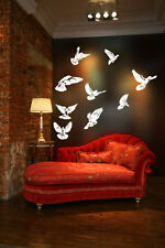 Doves Flying Huge Wall Vinyl Decal,peace,Mourning,Turtle,Rain,Carolina Pigeon 1