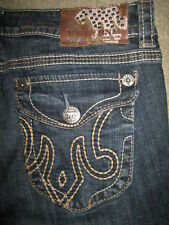MEK Natal Easy Boot Cut Flap Pkt Stretch Blue Denim Jeans Womens Size 29