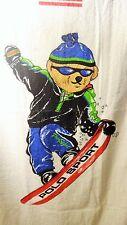 Polo Bear Snowboarder Beach Towel Sheet Ralph Lauren Sport Tag USA RARE HTF