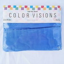 Westpoint Stevens Full Flat Sheet Blue Luxury Percale New Color Visions