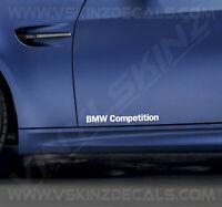 2x BMW Competition Logo Door Decals Stickers Premium Quality 11 Colours Alpina