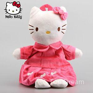 "New Sanrio Hello Kitty Plush Backpack Toy Stuffed Animal Girl Doll Kitten 16"""