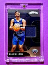 Zion Williamson PANINI PRIZM ROOKIE PLAYER WORN JERSEY SENSATIONAL SWATCHES Mint