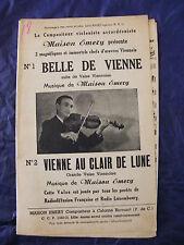 Partition Belle de Vienne Maison Emery Vienne au clair de lune Music Sheet