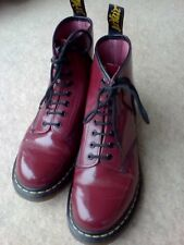 Cherry Red Patent Leather Doc Marten Boots Size 7 Airwair bouncing soles