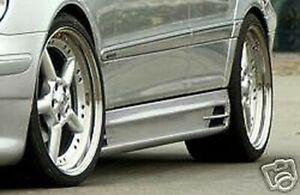 Rieger OEM Mercedes-Benz W203 C Classe Lato Gonna Coppia Nuovo