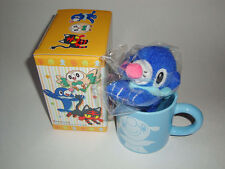 RARE POKEMON CENTER JAPAN POPPLIO MUG CUP KEYCHAIN PLUSH SET 2017 TOY SUN MOON