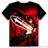 Anime Black Clover Cosplay Unisex Casual Black T-shirt Short Sleeve Tops Summer