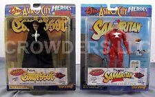 Astro City Heroes & Villains FUTURE CONFESSOR & PREMIERE SAMARITAN Figure 98 NIP