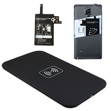 Qi Wireless Charging Pad With Receiver Tag Set For Samsung Galaxy Note 4 Pop