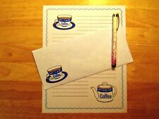 Coffee Writing Paper - Stationery Writing Sets With Envelopes - Lined Stationary