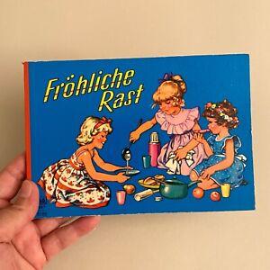 Kinderbuch ALT 1960er 13x18cm Fröhliche Rast Ilse Wende-Lungershausen Pappseiten