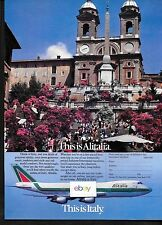 ALITALIA 1988 THIS IS ALITALIA.THIS IS ITALY ROME & SPANISH STEPS B747-200 AD