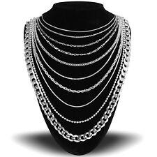 Sterling Silver 925 Italian Women's Anklet Bracelet Choker Necklace Body Chain