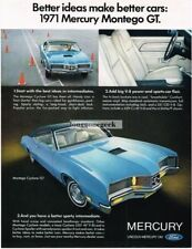 1971 Mercury Montego Cyclone GT Blue 2-door Coupe 1970 Vtg Print Ad